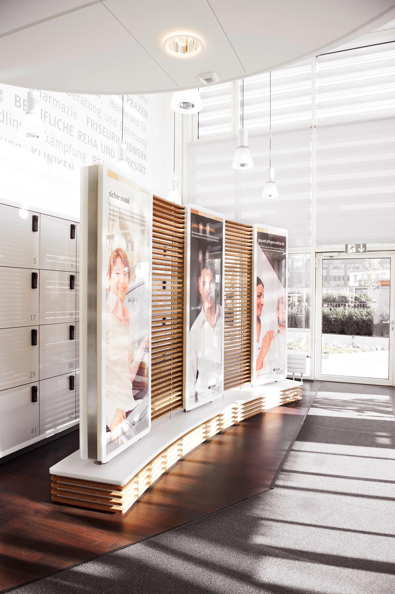 interior design und produktion des bgw empfangs foyer hamburg. Black Bedroom Furniture Sets. Home Design Ideas