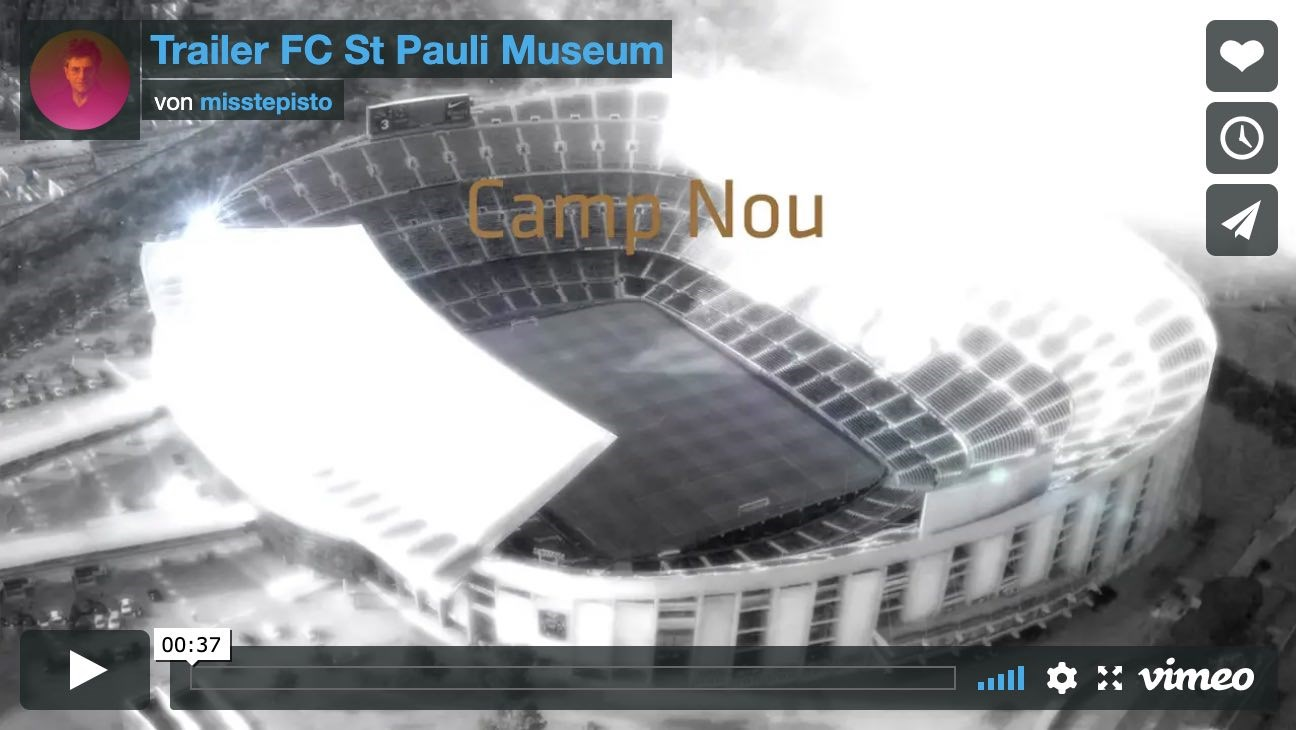 Screenshot Video Trailer FC St. Pauli Museum auf vimeo.com